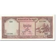 Billet, Cambodge, 20 Riels, 1956-1975, Undated (1956-1975), KM:5d, SPL - Cambodge