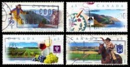 Canada (Scott No.1650-53 - Route Pitoresques / Scenic Highways) (o) Série / Set - 1952-.... Règne D'Elizabeth II