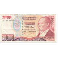 Billet, Turquie, 20,000 Lira, 1995-1997, Undated(1995-1997), KM:202, TTB - Turquie