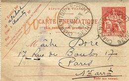 1937- Carte Pneumatique 1,50 F Chaplain De  CHARENTON-LE-PONT - Marcophilie (Lettres)