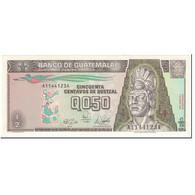 Billet, Guatemala, 1/2 Quetzal, 1989, 1989-01-04, KM:72a, NEUF - Guatemala