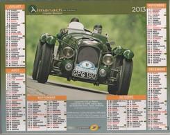 CALENDRIER ALMANACH DU FACTEUR 2013 - AUTOMOBILES VOITURES LAGONDA V12 ET MORGAN PLUS FOUR ( GROS PLAN ) A VOIR - Grand Format : 2001-...