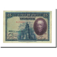 Billet, Espagne, 25 Pesetas, 1928, 1937-10-15, KM:71a, SUP - 1-2-5-25 Pesetas