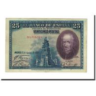 Billet, Espagne, 25 Pesetas, 1928, 1937-10-15, KM:71a, SUP - [ 1] …-1931 : Eerste Biljeten (Banco De España)