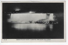 CANADA - AMERICAN FALLS Of NIAGARA ILLUMINATES, From NIAGARA FALLS, CANADA - 1939 (I65) - Ontario