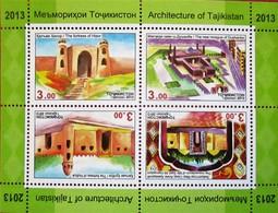 Tajikistan  2013  Architecture Of Tajikistan  S/S   MNH - Tadschikistan