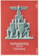 NURNBERG - 1936 , Propagandakarte - Reichsparteitag Der NSDAP - Klebefalzabschürfungen - Allemagne