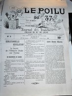 Rare Journal De Tranchées Le Poilu Du 37 Numéro 5 - 1914-18