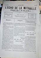 Rare Journal De Tranchées L'écho De La Mitraille Organe Du 1er Bataillon Du 23 Eme RI 15 Août 1915 - 1914-18