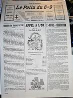 Rare Journal De Tranchées Le Poilu Du 6-9 Mars 1917 - 1914-18