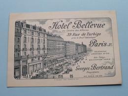 Hôtel BELLEVUE Rue De TURBIGO Paris 3e - Prop. Georges BERTRAND ( Y. Caraes ) Anno 19?? ( Zie Foto's Voor Detail ) ! - Pubs, Hotels, Restaurants