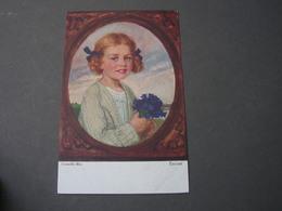 Kind , Mit Blumen, Enzian  Primus Künstlerkarte 3047 * - Abbildungen