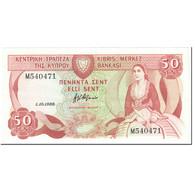 Billet, Chypre, 50 Cents, 1988, 1988-10-01, KM:52, SPL+ - Chypre