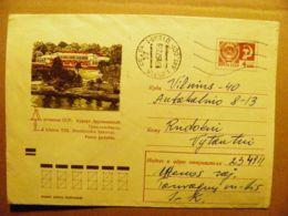 Cover Lithuania Ussr Postal Stationery Soviet Occupation Period Druskininkai  1970 Utena - Lithuania