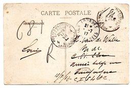 CV Expédiée De Lourdes (F) Vers Un Militaire Belge (cachet D'arrivée P.M.B. 4) - WW I