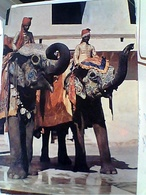 INDIA ELEFANTE ELEPHANT TAXI TAXIS JAIPUR RAJASTHAN STAMP TIMBRE SELO  1 FIRST ASIA + 20  Art 1977 GX5740 - India