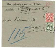 9807 - ALTDORF - 1882-1906 Armarios, Helvetia De Pie & UPU