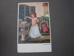 Morgenwäsche , Künstler AK Moderne Kunst 215 * - Abbildungen