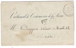 9810 - TRIBal De COMMERCE - Marcophilie (Lettres)