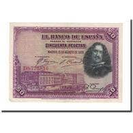 Billet, Espagne, 50 Pesetas, 1928, 1928-08-15, KM:75b, SUP - [ 1] …-1931 : Eerste Biljeten (Banco De España)