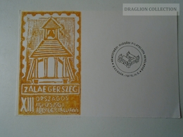 D161765  Commemorative - Hungary - - Zalaegerszeg Stamp Exhibition 1975 -Handstamp Eger Egervár - Feuillets Souvenir