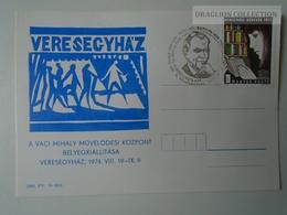 D161768   Commemorative - Hungary - Veresegyház Váci Mihály M. Közp.  Bélyegkiállítás  1974 - Feuillets Souvenir