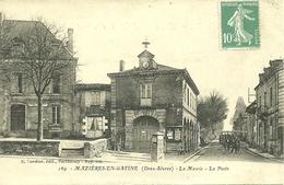 79  MAZIERES EN GATINE - LA MAIRIE - LA POSTE (ref 2927) - Mazieres En Gatine