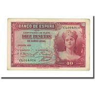 Billet, Espagne, 10 Pesetas, 1935, 1935, KM:86a, SUP - 10 Pesetas