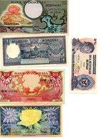Indonésie  -5  Billets De 25 , 10 , 10 ,5 Et 2,5 Rupiah - Indonésie