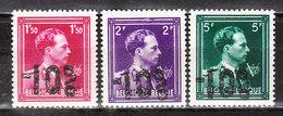 724N/P**  Leopold III Col Ouvert Surchargé -10% - HOUYET - Série Complète - MNH** - LOOK!!!! - 1946 -10%