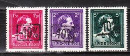 724N/P**  Leopold III Col Ouvert Surchargé -10% - KORTENBERG - Série Complète - MNH** - LOOK!!!! - 1946 -10%