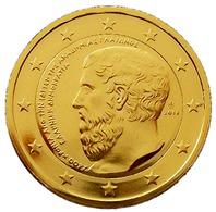 GRECE 2013 - 2 EUROS COMMEMORATIVE- PLATON - PLAQUE OR - Grèce