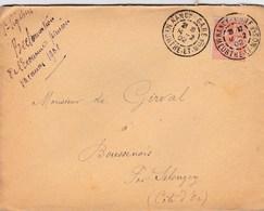 LAC De Nancy (54) Pour Boussenois (Selongey-21) - 14/02/1902 - Timbre 15c YT 117 - CAD Type 84 - Ecole Saint-Sigisbert - Marcophilie (Lettres)