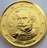 ITALIE 2013 - 2 EUROS COMMEMORATIVE- VERDI - PLAQUE OR - Italie