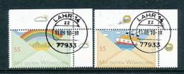 GERMANY Mi.Nr. 2786-2787 Grußmarken - Eckrand Oben Rechts - Used - BRD