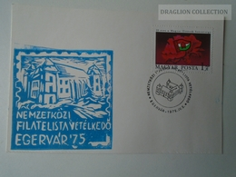 D161771   Commemorative - Hungary - Filatelista Vetélkedő  - Egervár Eger  1975 - Feuillets Souvenir