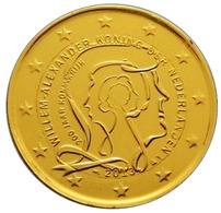 PAYS BAS 2013 - 2 EUROS COMMEMORATIVE - 200 ANS DE LA ROYAUTE - PLAQUE OR - Pays-Bas