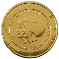 PAYS BAS 2013 - 2 EUROS COMMEMORATIVE - BEATRIX ET ALEXANDRE - PLAQUE OR - Pays-Bas