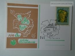 D161782  Commemorative - Hungary - FÓT- Bélyegkiállítás 1976 Fóti ősz - Grapes - Feuillets Souvenir