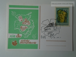 D161783  Commemorative - Hungary - FÓT- Bélyegkiállítás 1976 Fóti ősz - Grapes - Feuillets Souvenir