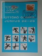 D161784  Commemorative - Hungary - Úttörő Olimpia - Pioneer Olympia  1975 Szombathely - Feuillets Souvenir