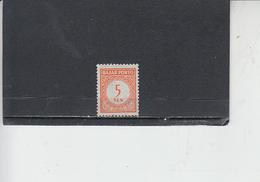 INDONESIA  1951-53 - Servizio  5 - Nuovo - Indonesia