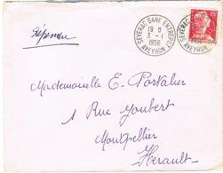 CAD SEVERAC GARE ENTREPOT SUR LETTRE - Marcophilie (Lettres)