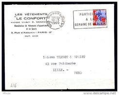 Lil3429 PARIS TRI Et DISTRIBUTION N°1 SECAP A00416 Articipez à La Semaine De La Bonté O=/Lettre 10/03/60 - Marcophilie (Lettres)