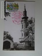 D161790   Commemorative - Hungary -RÁCKEVE  Szerb Templom  1975  Bélyeg Napok - Feuillets Souvenir