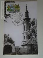 D161791   Commemorative - Hungary -RÁCKEVE  Szerb Templom  1975  Bélyeg Napok - Feuillets Souvenir