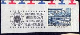 WM  FOOTBALL - ZURICH Mashin Postmark - 1954 - 1954 – Schweiz
