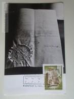 D161792   Commemorative - Maximum Card - Hungary -100 éves A Méter Rendszer - 1976 - Feuillets Souvenir