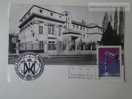 D161794   Commemorative - Maximum Card - Budapest  Mérésügyi Hivatal - Hungary -100 éves A Méter Rendszer - 1976 - Feuillets Souvenir