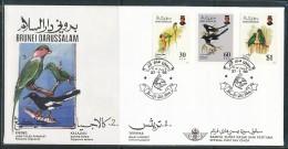 BRUNEI  Mi.Nr.  462-464 Vögel  - FDC - Brunei (1984-...)